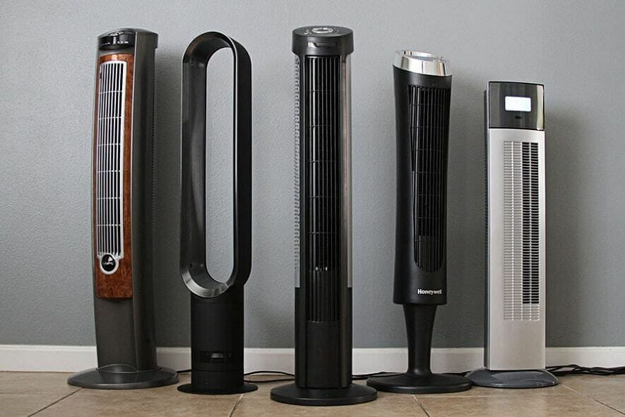 Image of 5 tower fans